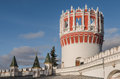 Naprudnaya tower in the novodevichy convent moscow russia october corner of monastery Royalty Free Stock Photography