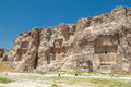 Naqsh e rustam ancient necropolis pars province iran panorama of Royalty Free Stock Photo