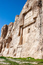 Naqsh e rustam tomb of persian kings in fars province iran Royalty Free Stock Images