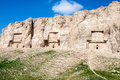 Naqsh e rustam tombs of persian kings in fars province iran Royalty Free Stock Photos