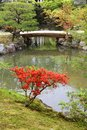 Nara japan kansai region unesco world heritage site isuien garden from meiji era focus on the bridge Royalty Free Stock Image