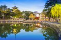 Nara japan at sarusawa pond Royalty Free Stock Image