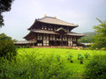 Nara todaiji temple japan in Royalty Free Stock Images