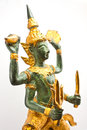 Narayana thai sculpture image of Royalty Free Stock Photography