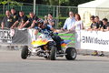 Narcis roca drifting with the quad at iubim roti we love two wheels event in romania at romexpo at this event it was seen a Royalty Free Stock Photos