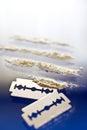 Narcotics abuse cocaine drug use criminality problem Stock Photography