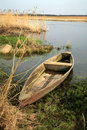 Narew National Park – Poland. Wooden boat. Royalty Free Stock Photo