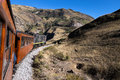 Nariz del diablo train ride the from riobamba is extremely scenic the highlight being the devil s nose and alausi round trip with Stock Image