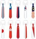 Narodowość 3 krawat Fotografia Royalty Free