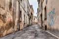 Narrow alley in the old town Royalty Free Stock Photo