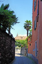 A narrow alley with southern flair Royalty Free Stock Photo