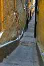 Narrow alley in Stockholm Stock Photo