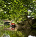 Narrow boat on the canal Royalty Free Stock Images