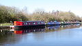 Narrow Boats on Canal Royalty Free Stock Photography
