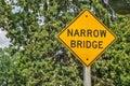 Narrow Bridge Sign Royalty Free Stock Photo