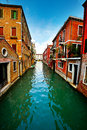 Narrow Canal Royalty Free Stock Image