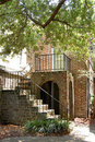Narrow Charleston House Royalty Free Stock Photo