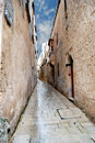 Narrow cobbled alley Stock Photography