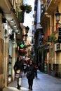 Narrow comercial Plateria street in Murcia Royalty Free Stock Photo