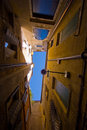 Narrow Courtyard in Italy Royalty Free Stock Photography