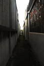 Narrow and Dark Alley Royalty Free Stock Images
