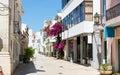 Narrow european street Royalty Free Stock Photo