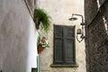 The narrow European street Royalty Free Stock Photo