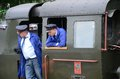 Narrow gauge railway in poland krosnice dolny slask may restored railroad krosnice railwaymen prepare for the first run on may Stock Image