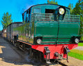 Narrow gauge steam locomotive. Stock Photography