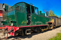 Narrow gauge steam locomotive. Royalty Free Stock Photography