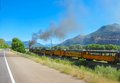 Narrow gauge train silverton colorado Royalty Free Stock Images