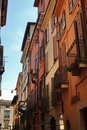 Narrow Italian city street Stock Photos