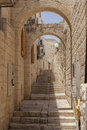 Narrow Jerusalem street Royalty Free Stock Photo