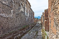 Narrow lane in Pompei Stock Images