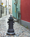 Narrow medieval street Stock Photo