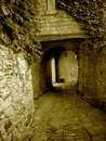 Narrow passage in Tuscany Royalty Free Stock Images