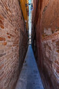 Narrow passage in venice the road italy Royalty Free Stock Photography