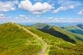 Narrow path down the mountain Royalty Free Stock Photo