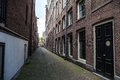 Narrow small empty streets of Amsterdam Royalty Free Stock Photo