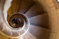 Narrow  spiral stairway Royalty Free Stock Photo