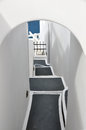 Narrow stairway on greek island santorin greece Royalty Free Stock Photography