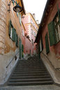 Narrow steps in sibiu the city of capital of culture Royalty Free Stock Photos