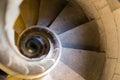 Narrow stone spiral stairway Royalty Free Stock Photo
