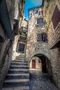 Narrow stone street of Trogir Royalty Free Stock Photo