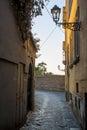 Narrow stony street in Sorrento Royalty Free Stock Photo