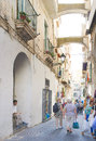 Narrow Street, Amalfi Italy Stock Photography