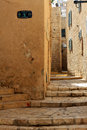 Narrow street in the ancient part of jaffa israel Stock Image