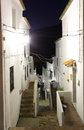 Narrow street in Andalusian village Royalty Free Stock Image