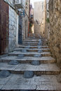The narrow street in the Arab quarter of the Old C Royalty Free Stock Images