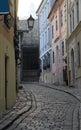 The narrow street in Bratislava, Slovakia